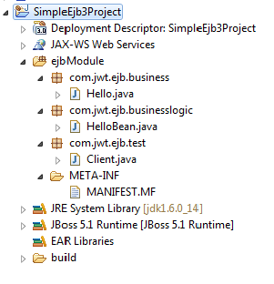 ejb project in eclipse