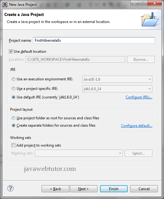 Login Application in Eclipse