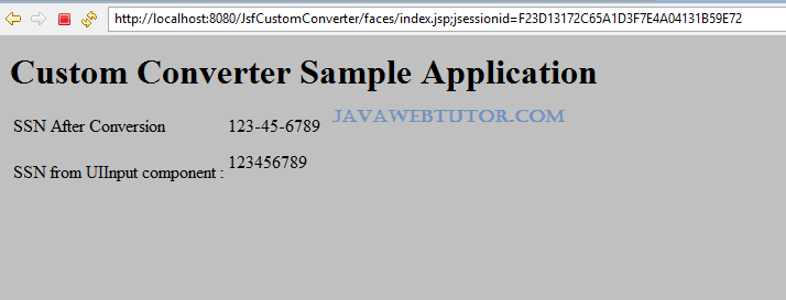 JSF Custom Converter Example in Eclipse | Java Web Tutor