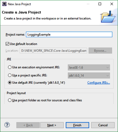 Log4j Configuration Using Properties File
