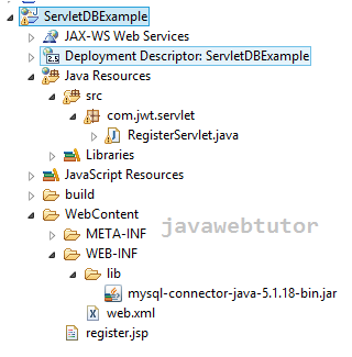 Servlet Example In Java With Database Connection