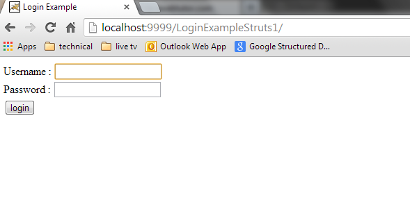 Struts Application in Eclipse
